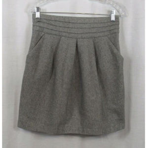 Love 21 Forever Gray Wool Blend Skirt M
